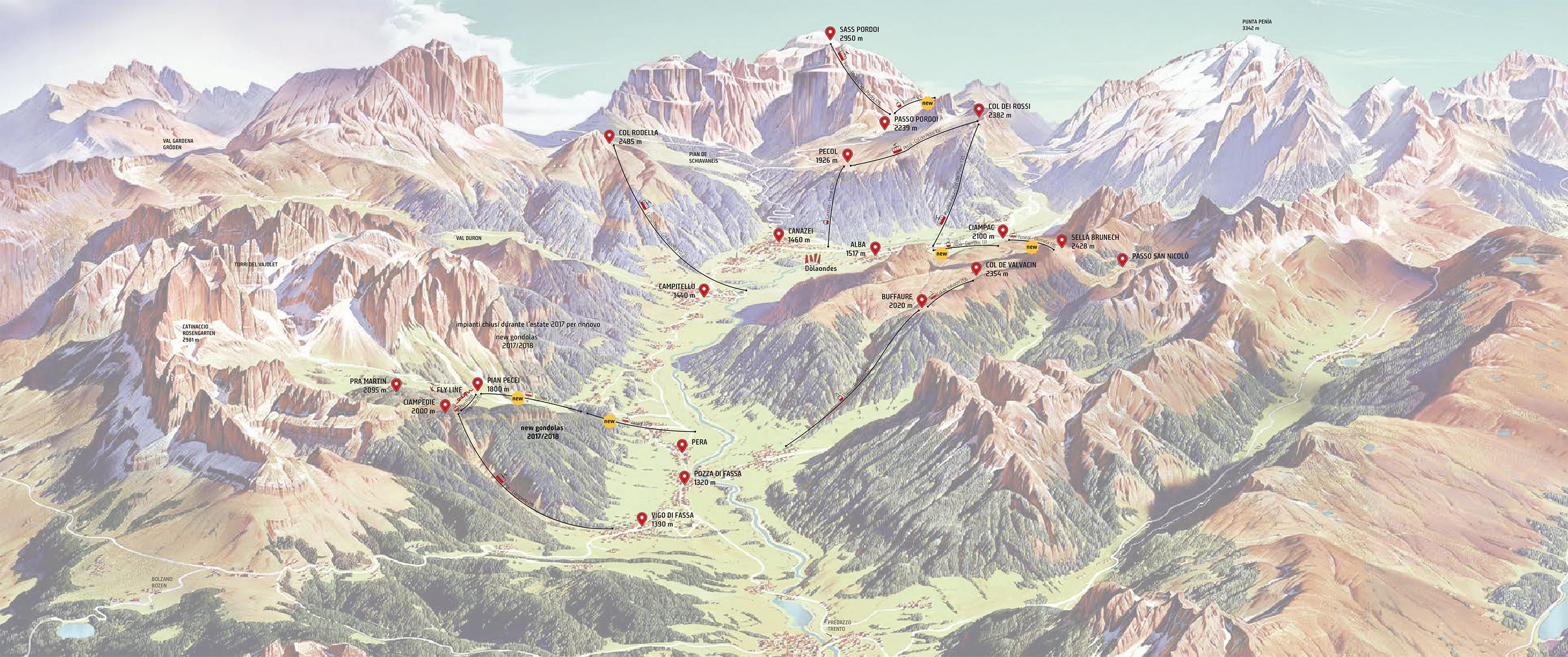 Your favourite destinations Val di Fassa Lift